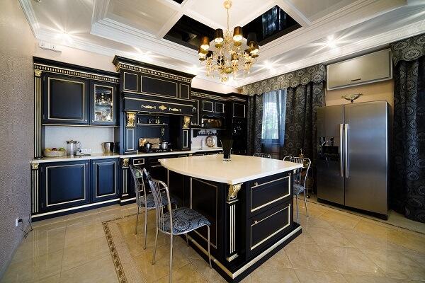 Mẫu trần thạch cao phòng bếp giật cấp đẹp và hiện đại |Vĩnh Tường