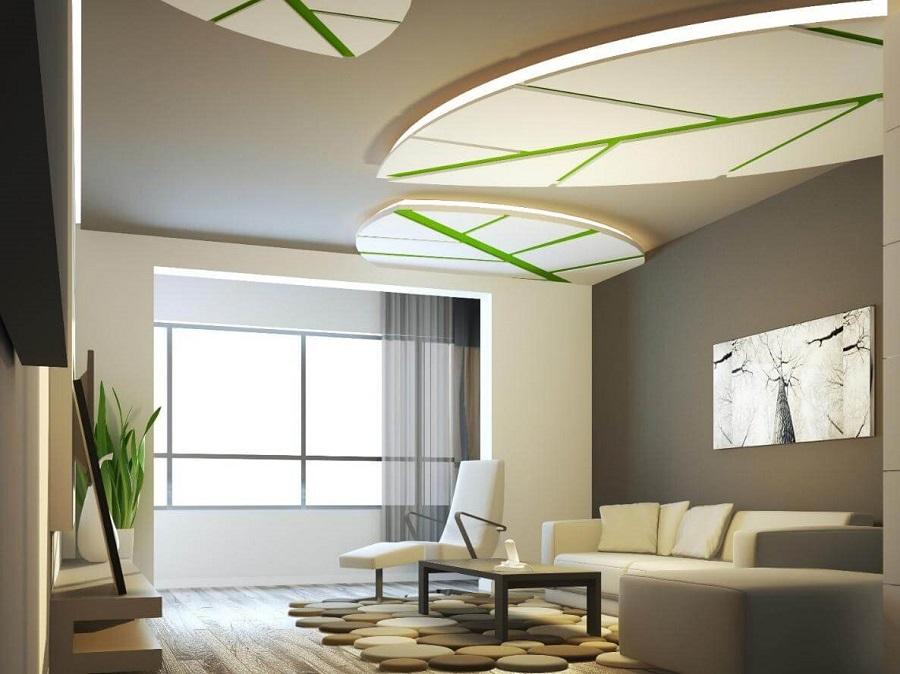 trần thạch cao phòng khách hiện đại