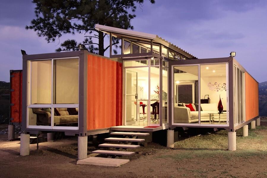 Nhà khung thép sáng tạo với thiết kế nhà container nhỏ gọn, đầy đủ tiện nghi
