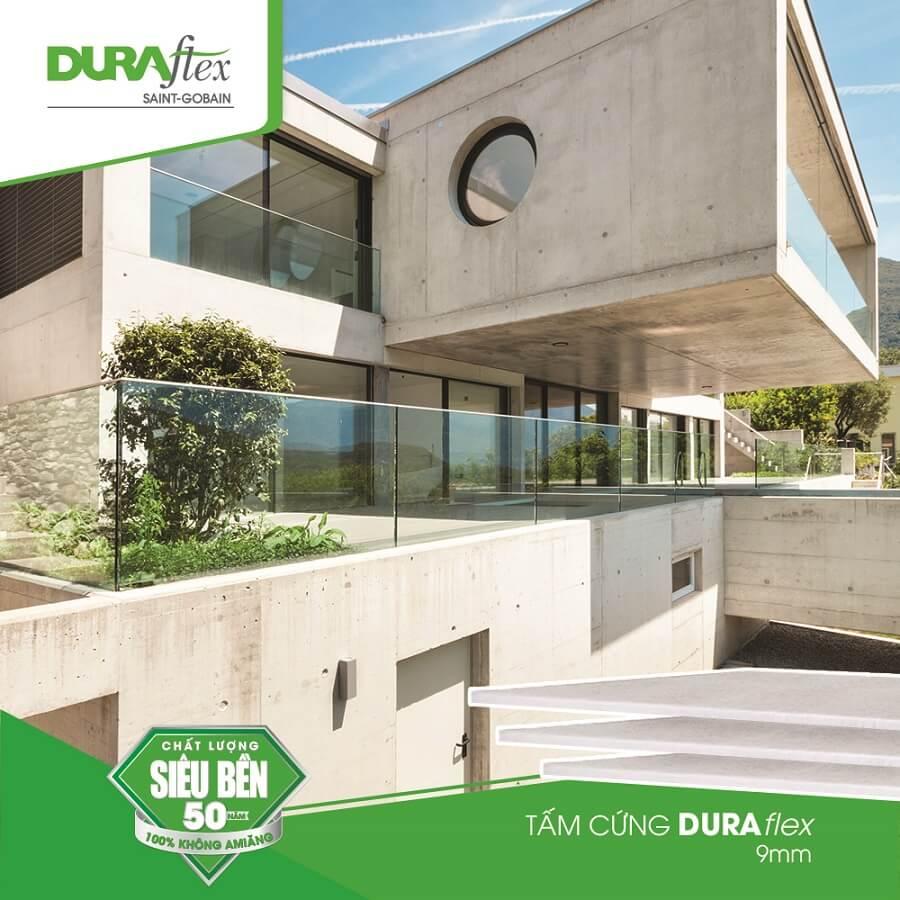 Tấm xi măng DURAflex vật liệu kết hợp xây nhà khung thép