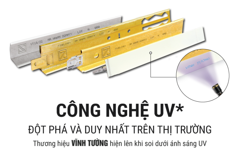 CONG NGHE IN UV cho khung tran noi Vinh Tuong FineLINE® Plus