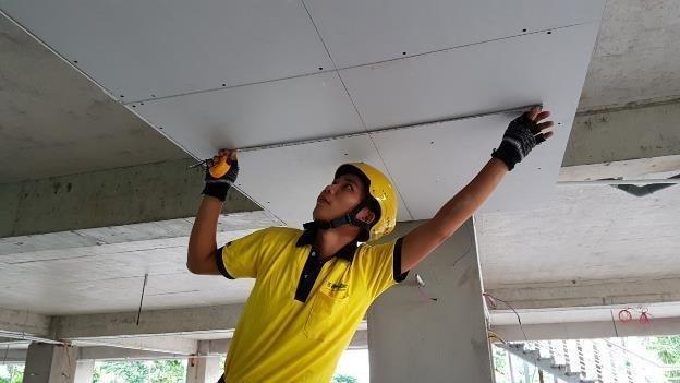 Thi công làm trần thạch cao bền đẹp