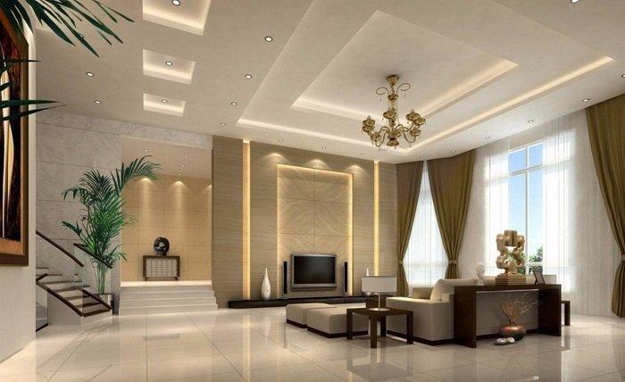 Mẫu Trần Thạch Cao Phòng khách đẹp 2020