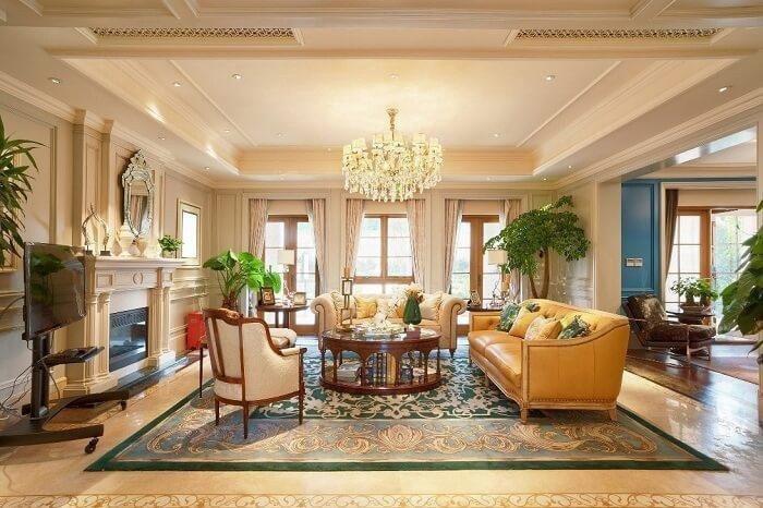   mẫu trần nhà thạch cao phòng khách đẹp, đơn giản