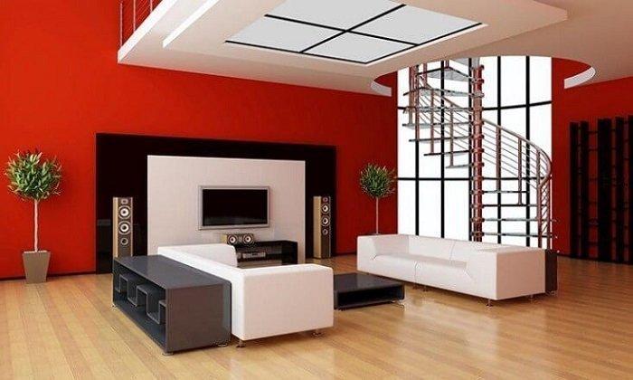 mẫu trần nhà thạch cao đẹp cho phòng khách hiện đại