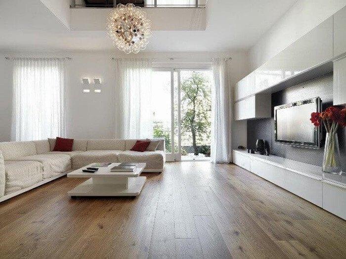 trần thạch cao đơn giản đẹp cho phòng khách