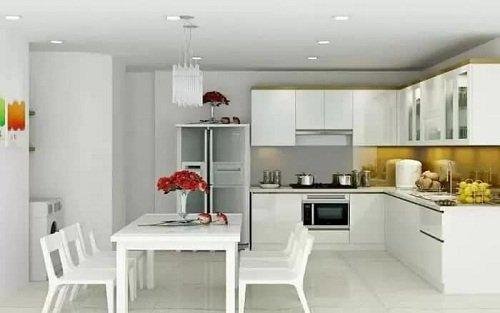 mẫu trần thạch cao phòng bếp đẹp