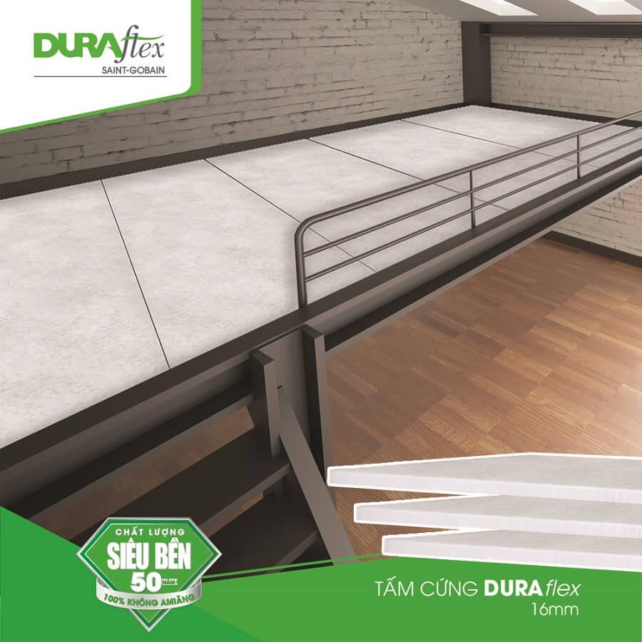 Tấm cứng duraflex thay thế cho các loại ván lót và ván gỗ ép làm sàn