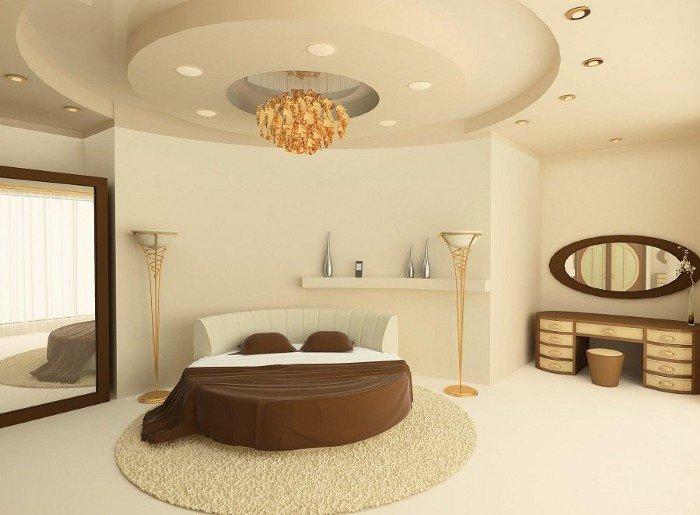 Mẫu Trần Thạch Cao Phòng Ngủ Đẹp hình tròn