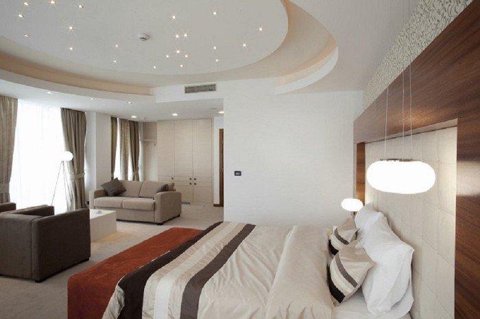 Mẫu Trần Thạch Cao Phòng Ngủ giật cấp đơn giản mà đẹp