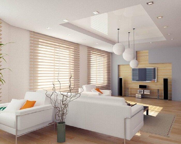 mẫu trần thạch cao giật cấp cho phòng khách