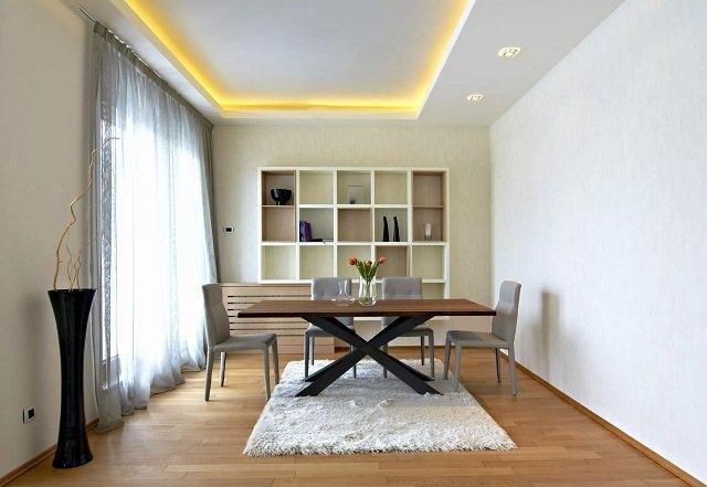 Mẫu trần thạch cao đơn giản cho không gian nhỏ - căn hộ | Vĩnh Tường