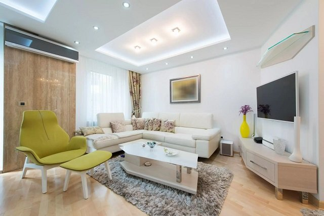 Mẫu trần thạch cao đơn giản phòng khách 2021 |Vĩnh Tường