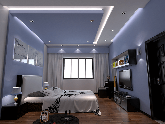 mẫu trần thạch cao phòng ngủ đẹp lãng mạn